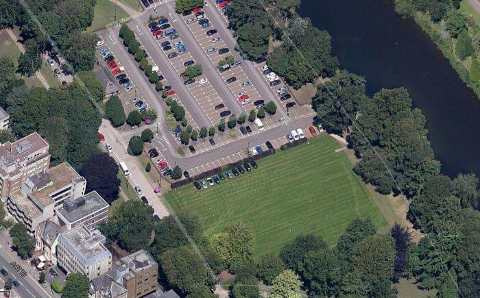 Sophia Gardens aerial view