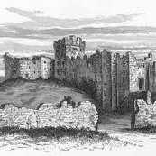 An engraving of Cardiff Castle in the 15th century